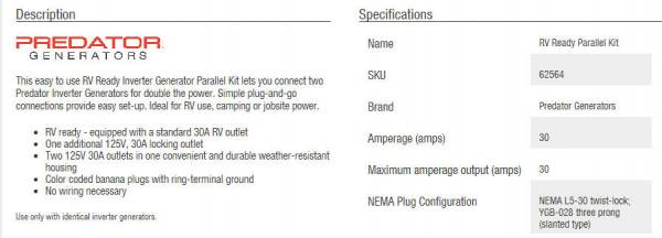 New Predator 3500 inverter generator - Page 4 - Forest River