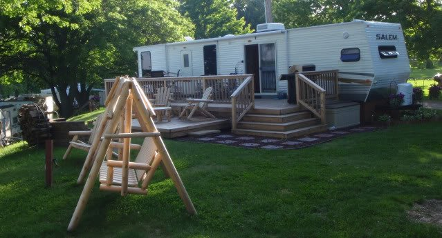 Here Is A Picture Of Our Deck On Seasonal Site