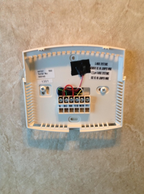 hunter thermostat install forest river forums rh forestriverforums com how to wire up a hunter thermostat Wiring Up Thermostat