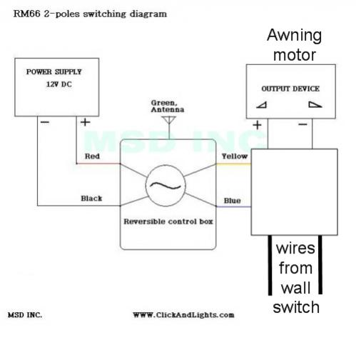 Click image for larger version  Name:12V DC 2-POLE REVERSIBLE MOMENTARY REMOTE KIT RM66 Circuit Diagram with switch.jpg Views:151 Size:20.7 KB ID:11070