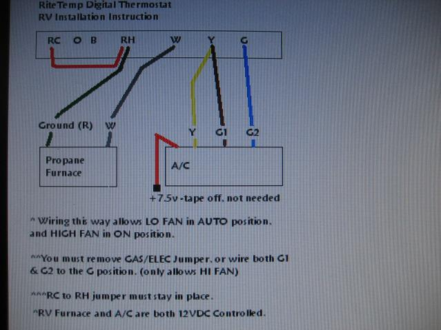 thermostat wiring i i forest river forums