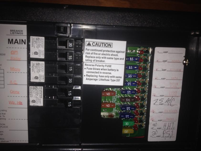 re-settable circuit breaker issue or converter issue ... forest river fuse box forest river wiring schematics