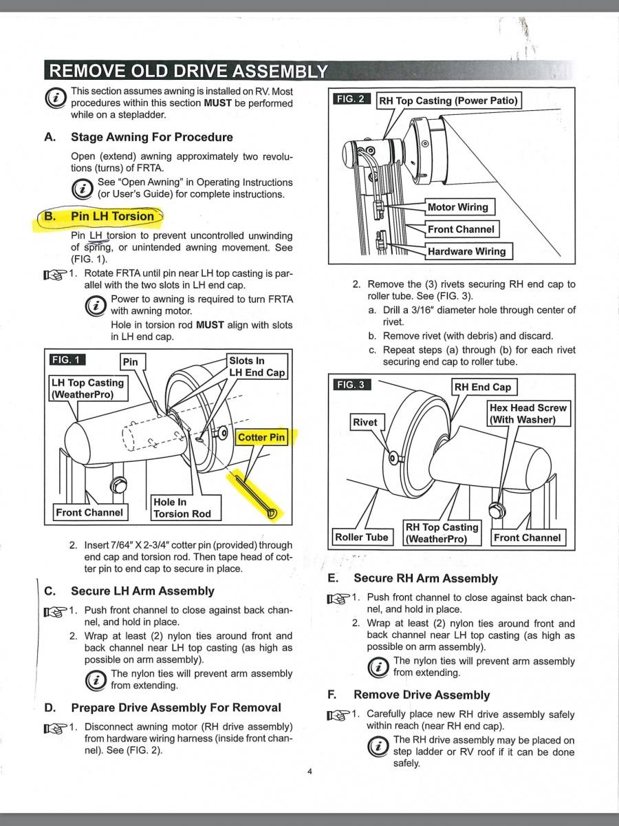 Dometic Weatherpro Power Awning Parts | Reviewmotors.co