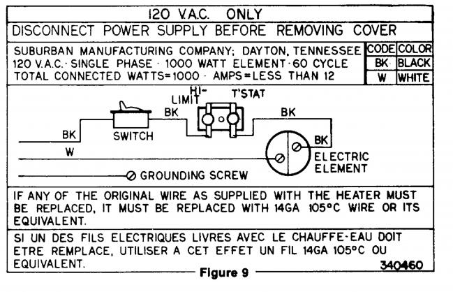 suburban rv water heater wiring diagram - wiring diagram and schematic, Wiring diagram