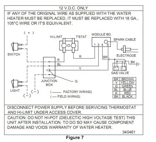 suburban water heater wiring (propane) - forest river forums, Wiring diagram