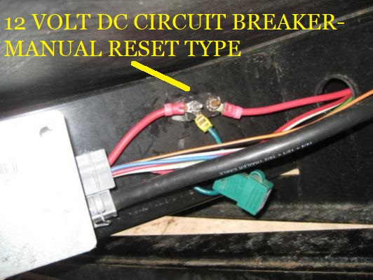 12 Volt DC Circuit Breaker with Manual Reset - Forest River ... Dc Circuit Breaker Wiring on