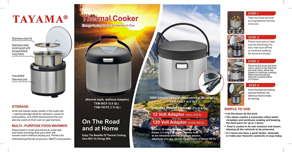 Click image for larger version  Name:Tayama TXM-E60CF Thermal Cooker and Food Warmer2.jpg Views:33 Size:297.7 KB ID:171096