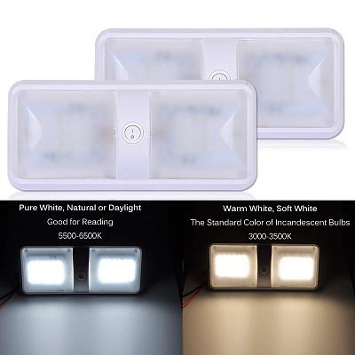 Click image for larger version  Name:AutoEC LED Dome Light, 2 Color Mode 12V LED RV Ceiling Dome Light Fixture 2.jpg Views:79 Size:78.9 KB ID:183687