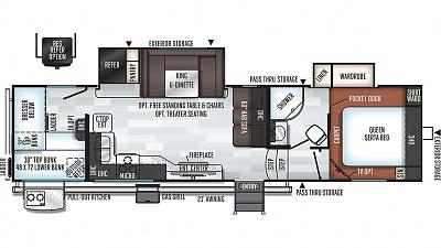Click image for larger version  Name:2020 Rockwood Ultra Lite 2891BH Floor Plan.jpg Views:65 Size:100.5 KB ID:211402