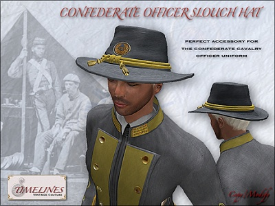 Click image for larger version  Name:TVC_Confederate_Officer_Slouch_Hat_promo.jpg Views:50 Size:218.6 KB ID:222225