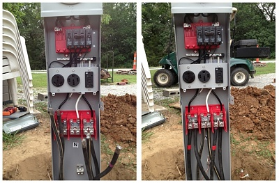 How To Wire Rv Park Pedestal Forest