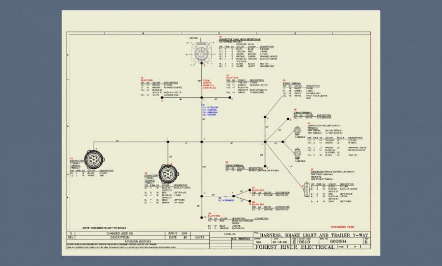 forest river wiring schematics tail