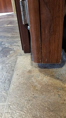 Click image for larger version  Name:Floor Scrape bottom corner of kitchen cabinet that hits floors.jpg Views:23 Size:237.2 KB ID:243322