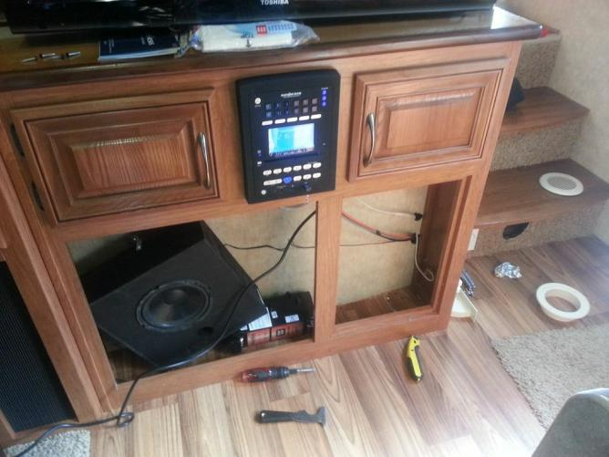 Click image for larger version  Name:Fireplace and subwoofer removed for vacpan and surge guard install.jpg Views:825 Size:47.4 KB ID:25522