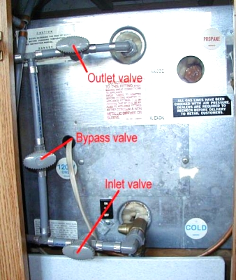 water heater bypass location Forest River Forums
