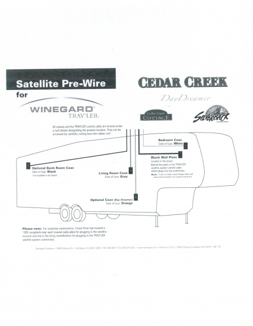 Cedar Creek Pre-wire For Winegard Traveler