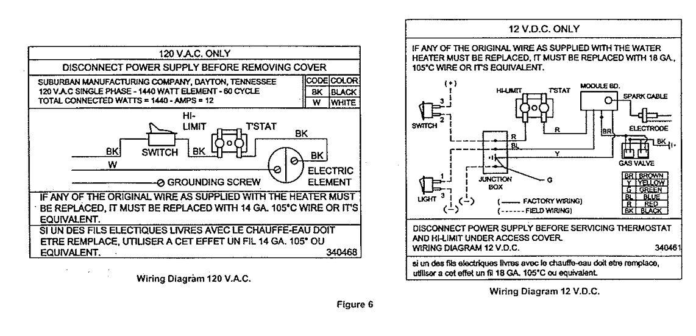 wiring diagram sw10de suburban water heater powerking co Suburban SW10DE Troubleshooting RV Hot Water Heater
