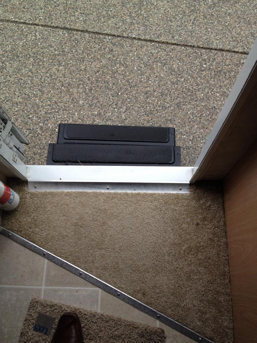 Click image for larger version  Name:Inside of trailer - skew step and carpet inside.jpg Views:137 Size:524.8 KB ID:56494