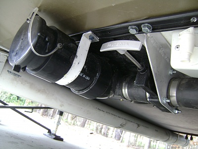 Click image for larger version  Name:New Alum Strap to Hold Drain.jpg Views:231 Size:281.7 KB ID:62476