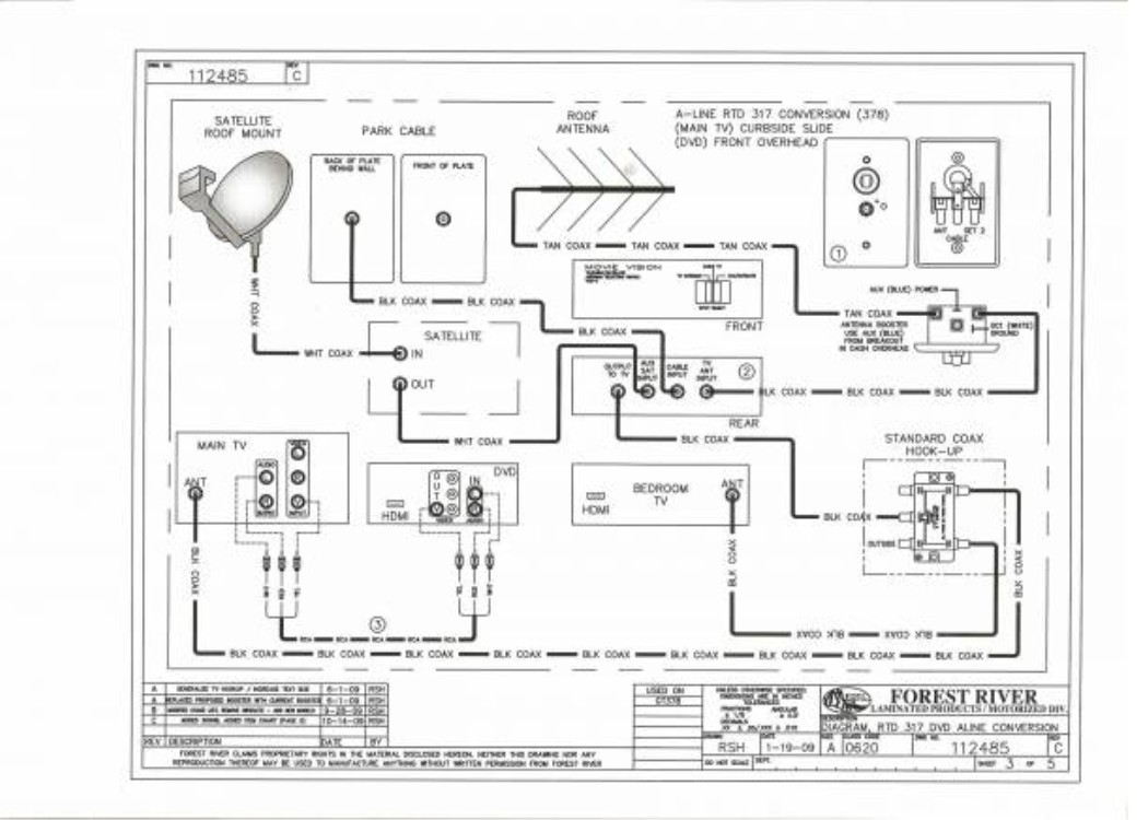 rv cable tv wiring  rv  get free image about wiring diagram