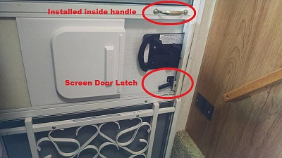 Remove Screen Door Latch Replace It With A Magnetic