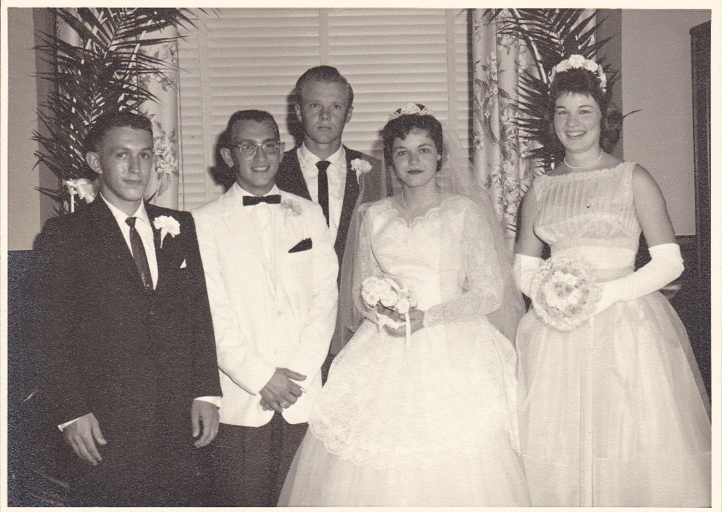 Click image for larger version  Name:Our Wedding Gary, me, Tommy Sharp, Frankie, Mary Sue McCullough.jpg Views:124 Size:479.0 KB ID:87123