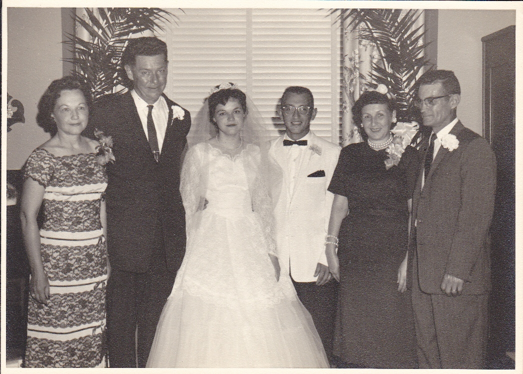 Click image for larger version  Name:Our Wedding Mary V Kercheval, Frank M. Kercheval, Frankie, me, Nancy Catharine Dunn, Mardis N. D.jpg Views:117 Size:505.5 KB ID:87124