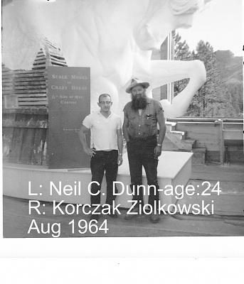 Click image for larger version  Name:Neil & Korczak Ziolkowski -Aug1964.jpg Views:65 Size:248.7 KB ID:87127