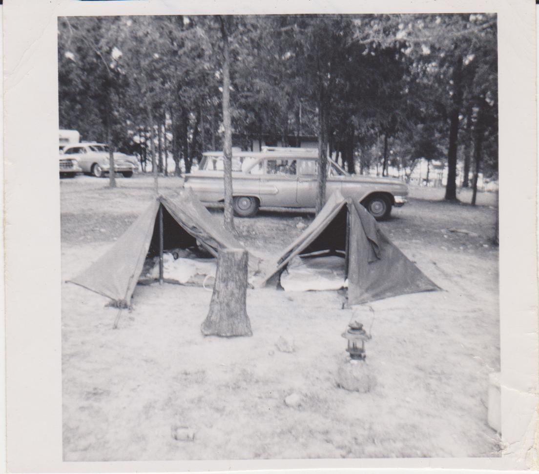 Click image for larger version  Name:Our first camp site Sept1960.jpg Views:169 Size:107.1 KB ID:90780
