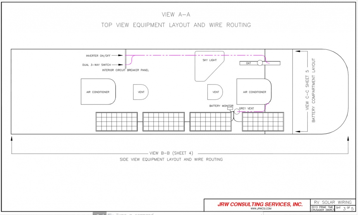Rv 5th Wheel Solar Battery Inverter Upgrade Forest River Forums Wiring Diagram Besides Power Also Click Image For Larger Version Name Sht 3 Views 230