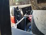 Hauling golf cart