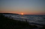 Sunset on Lake Michigan at Wilderness State Park