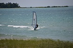 Sailboarding on Lake Michigan (this is not me on the board!)