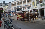 The two primary modes of transportation on Mackinac Island:  horses and bicycles.