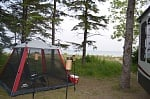 Our campsite on Lake Michigan at Wilderness State Park