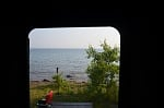 The view from the door of our Sabre on Lake Superior at Porcupine Mountains