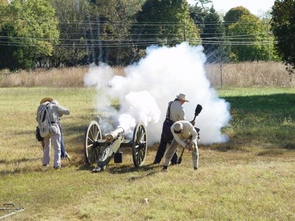 Firing the mountain howitzer