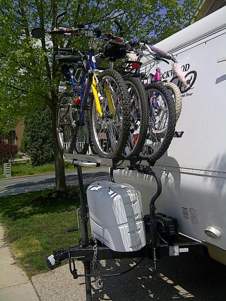 Bike Racks For Campers Arvika RV bike rack YouTube
