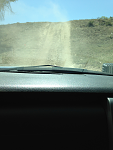 One of the hills we climbed in the truck. Not sure of exact incline, but it's something steeper than 45 degrees.