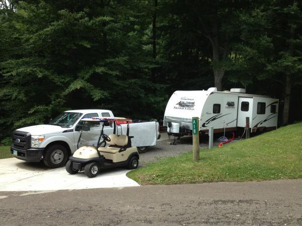 Site A18 @ Woods Tall Timbers Lake Resort, New Philadelphia, OH