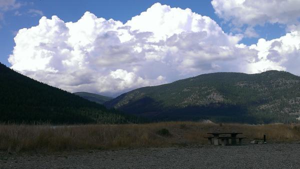 Thunderstorm coming at Lake Koocanusa 9/8/13