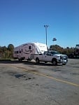 2012 Ford F350 towing 2014 Sabre Silhouette 5th wheel rv