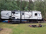 Lacrosse 329BHT 2015 at Father-in-law lot Birchwood Village Alberta Canada